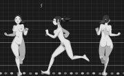 Animated walks and runs