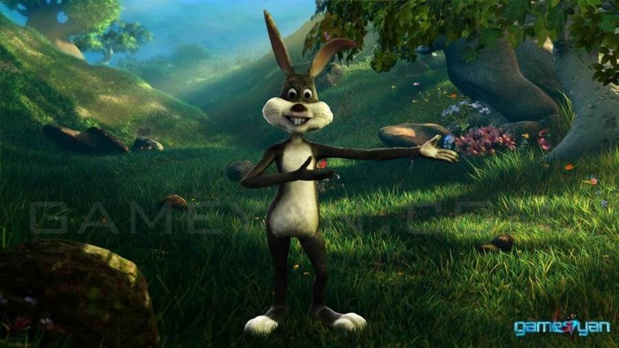 Моделирование персонажа Кролик мультфильм